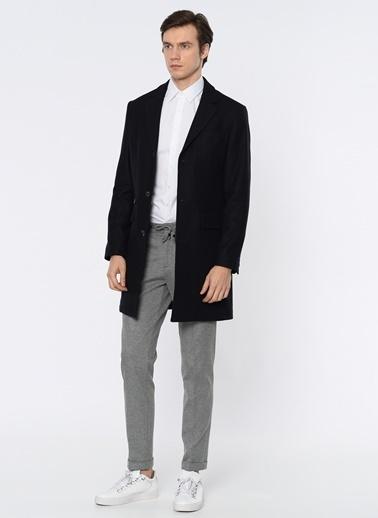 George Hogg İngiliz Yaka Klasik Yün Palto Lacivert